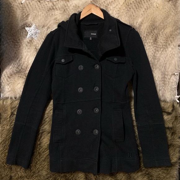 Hurley Jackets & Blazers - Hurley Black Peacoat